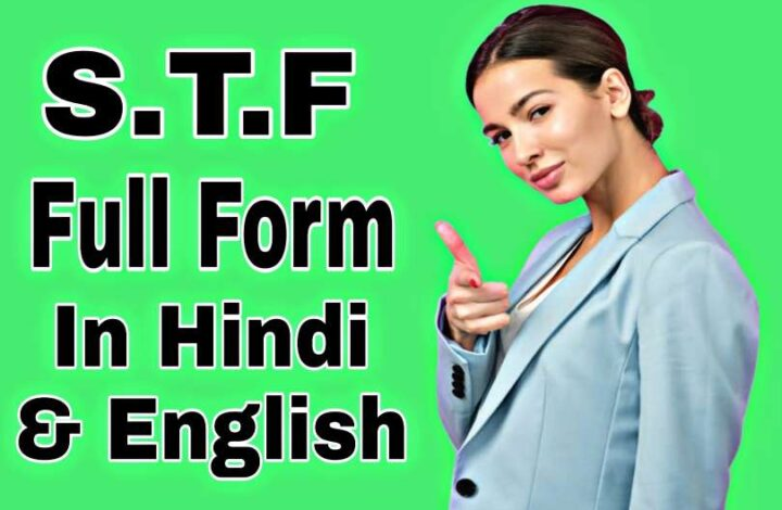 STF Full Form In Hindi & English